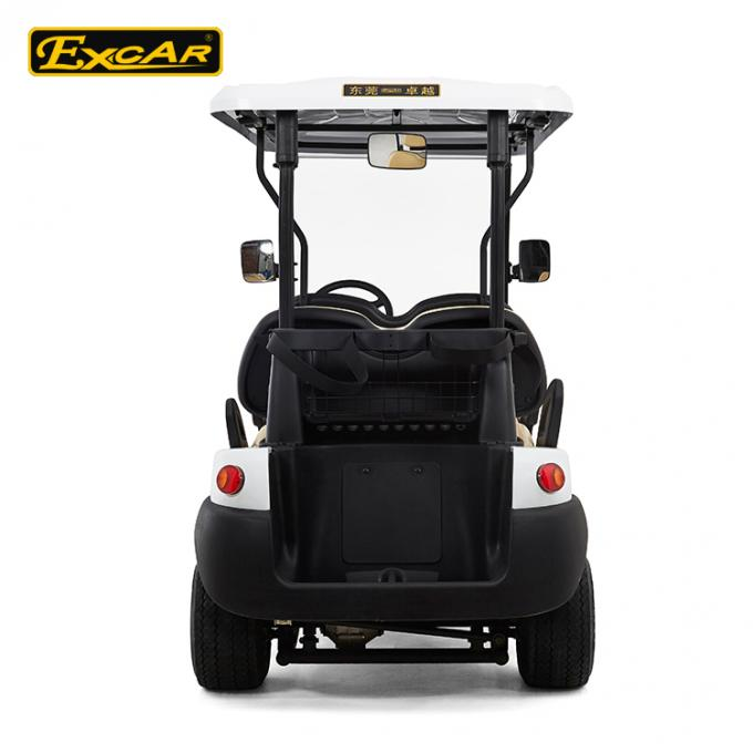 25 Km / H 4 Seater 48V Electronic Golf Carts White Color ADC Separately Motor