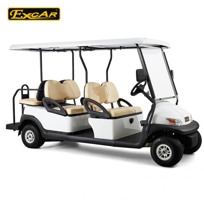 EXCAR  CE Approved Hotel Elegant 6 Person Electric Golf Buggy/Trojan Battery