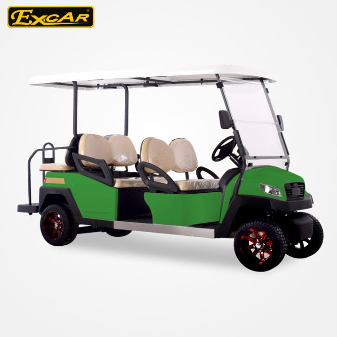 6 Seat Electric Golf Carts 4 Wheel Golf Cart With ISO Certificated