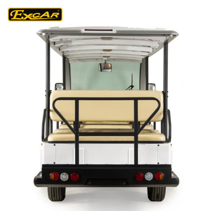 EXCAR White 14 Seater Electric Sightseeing Bus With Trojan Battery