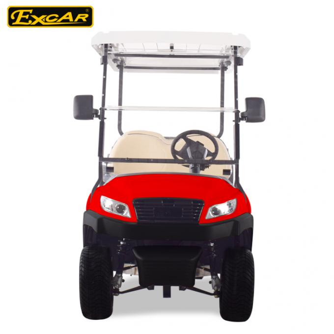 Fuel Type Electric Golf Carts Red 6 Seater Golf Cart With Graziano Axle