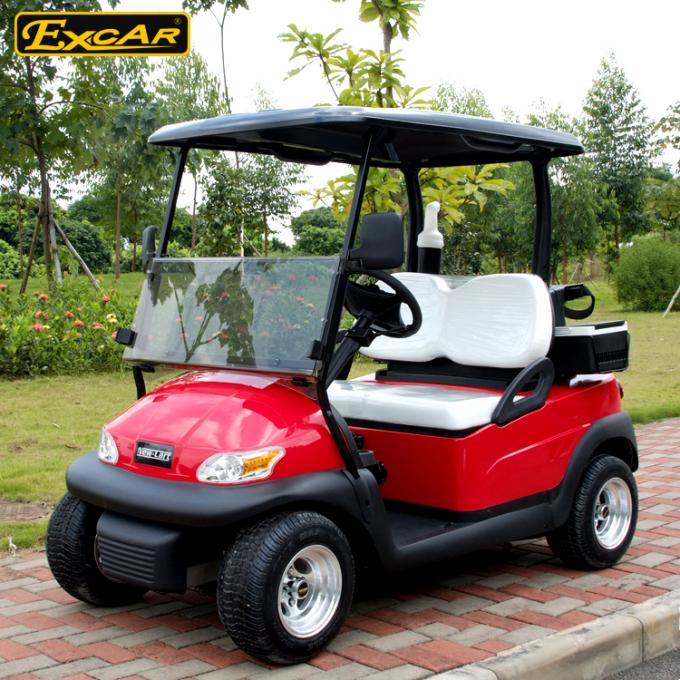 Metallic Red Color Electric Golf Car