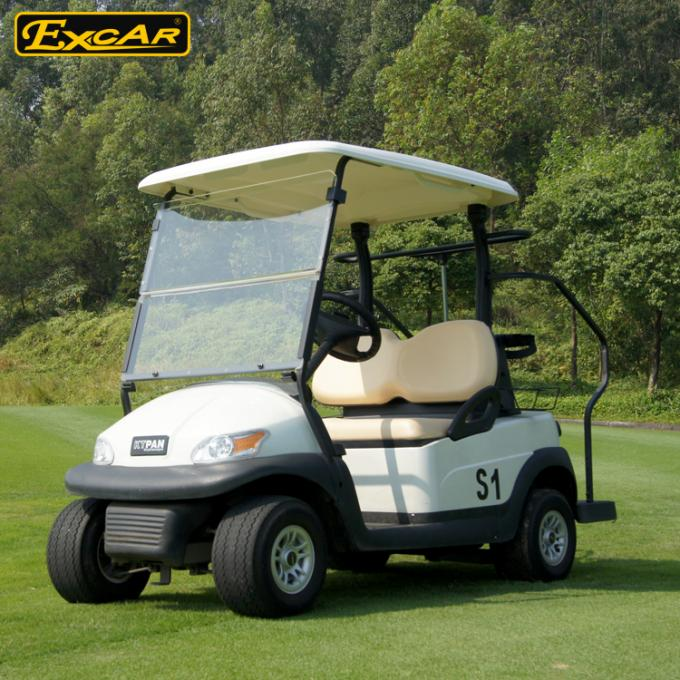 Excar Mini 2 Person Second Hand Golf Cars 48V Trojan Battery With Caddie Plate