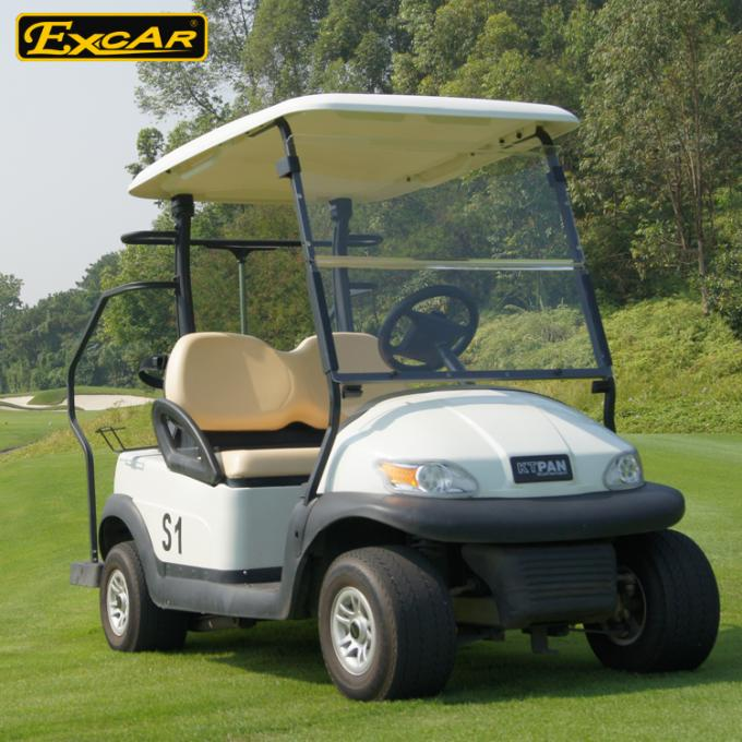 EXCAR Trojan battery 2 Seater Used Electric Golf Carts 48V 275A golf buggy