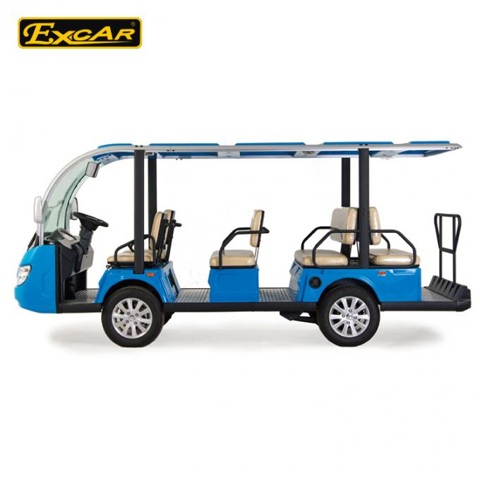 Blue 11 Seater Electric Sightseeing Car With 72V 7.5KW KDS Motor