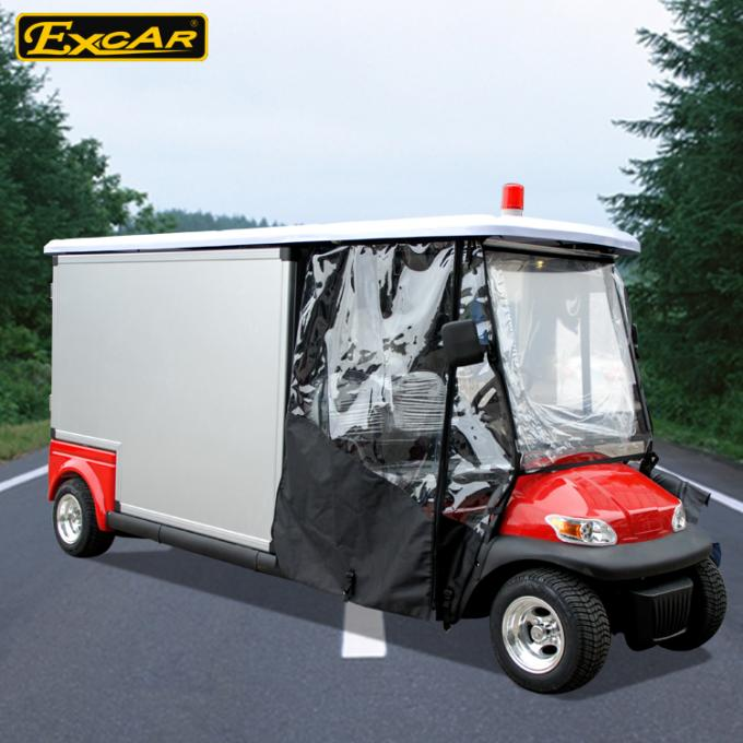 Steel Chassis Waterproof Medical Golf Cart With Light And Horn