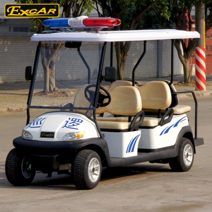 CE Approved White Electric Patrol Car 6 Person Electric Police Car
