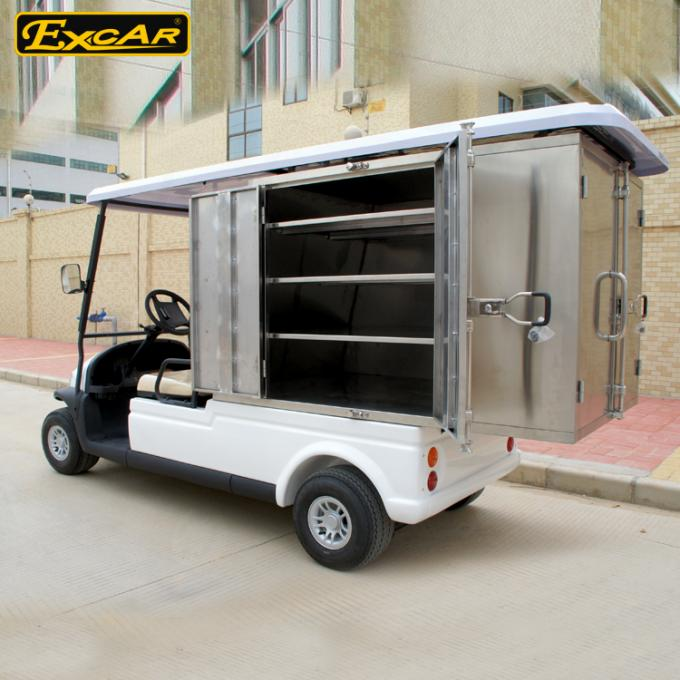 White Hotel Buggy Car Electric Utility Carts with Customized Cargo 350A USA Curtis Controller