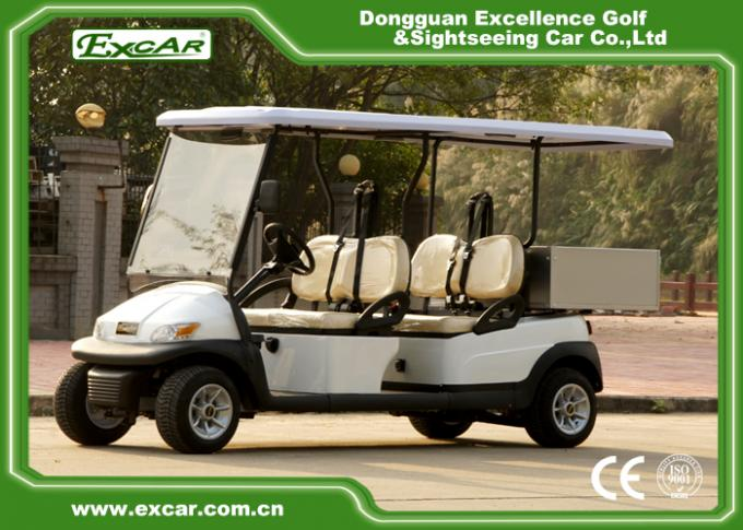 EXCAR White 2 Seats Hotel Buggy Car Electric Utility Golf Carts With Cargo for Transportation