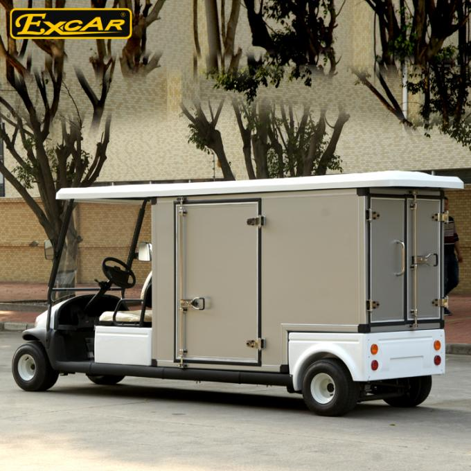 White 2 Passenger Electric Food Cart