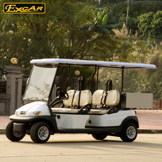 A1H2 / LC Hotel Buggy Car 48V Battery Operated For 4 Passenger 0