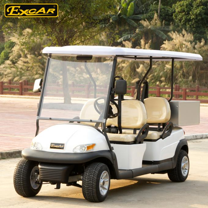 A1H2 / LC Hotel Buggy Car 48V Battery Operated For 4 Passenger 1