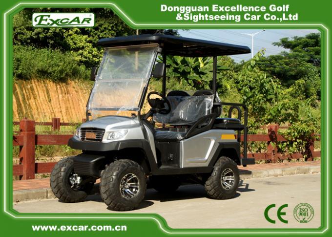 Silver EXCAR 48 Voltage 275A Electric Golf Car 4 Wheel