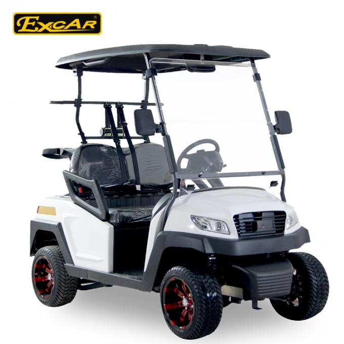 48V Trojan Battery Electric Golf Carts 2 Seater White Club Car Electric Golf Car