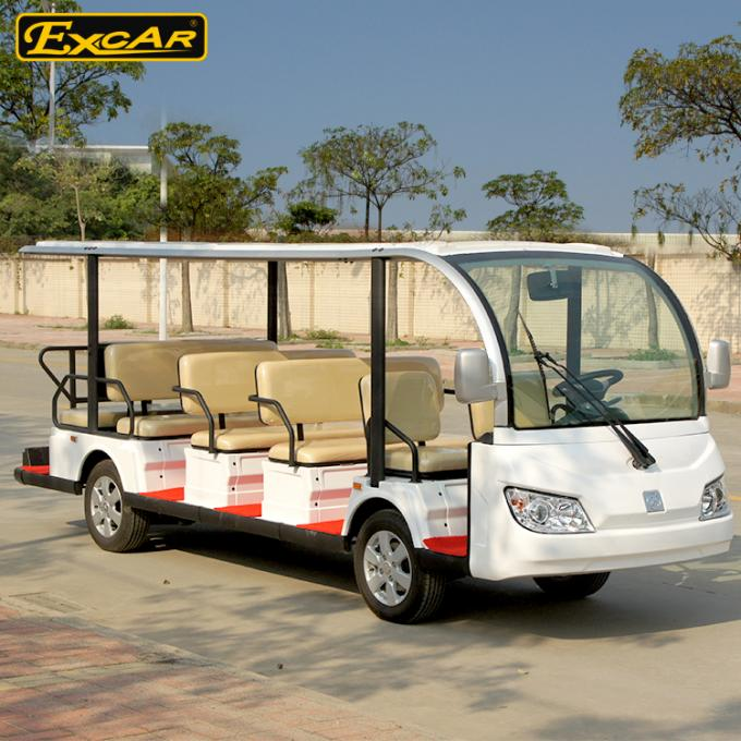 7.5KM Motor 72V 14 Seater Electric Sightseeing Bus / Tour Golf Cart