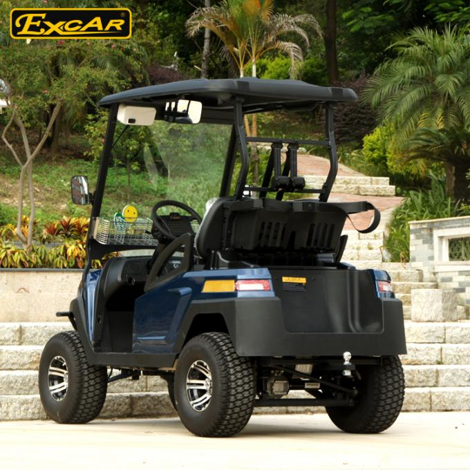 Customized 2 Seater Electric Golf Carts , 48v 17ah Onboard Charger