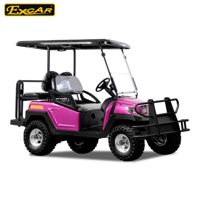 CE Approved EXCAR 48V 3.7M Electric golf car Battery Powered 4 Seater buggy car