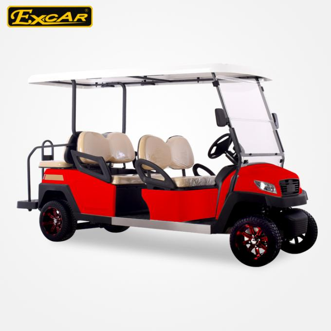 48V 3.7M Electric Battery Powered Golf Car , 4 Seater Buggy Car