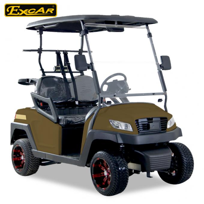 Right Hand Steering Brown 48V AC motor Mini Electric Golf Buggy EXCAR golf cart