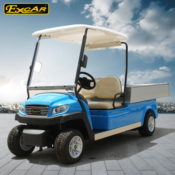 2 Seater Hotel Buggy Car , Electric Utility Golf Carts 100% Waterproof Accelerator