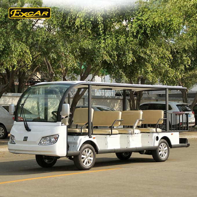 EXCAR white 72V 11 Seater Electric Sightseeing Car With Storage Basket