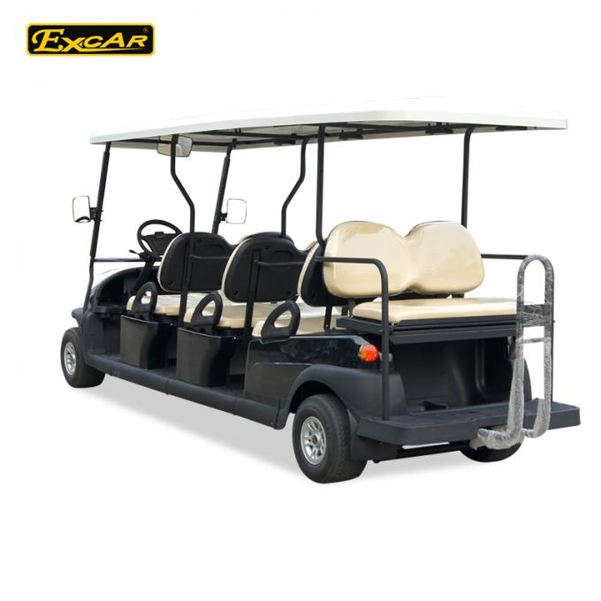 Custom 2 Seater Electric Golf Carts 48v Trojan Battery / Electric Sightseeing Car