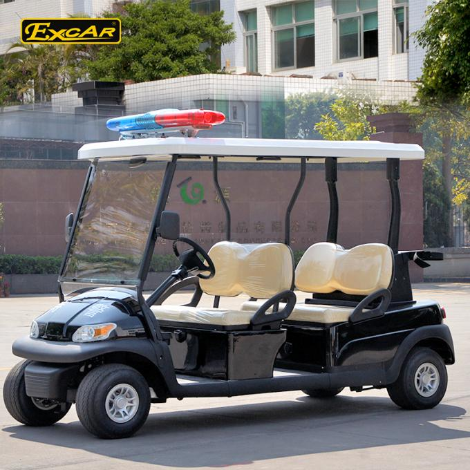 4 Seats ADC 48V 3.7KW Electric Patrol Car with caution light