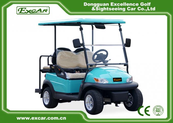 Front / Rear 4 Seats Electric Golf Carts , Battery Powered Electric Caddy Carts 0