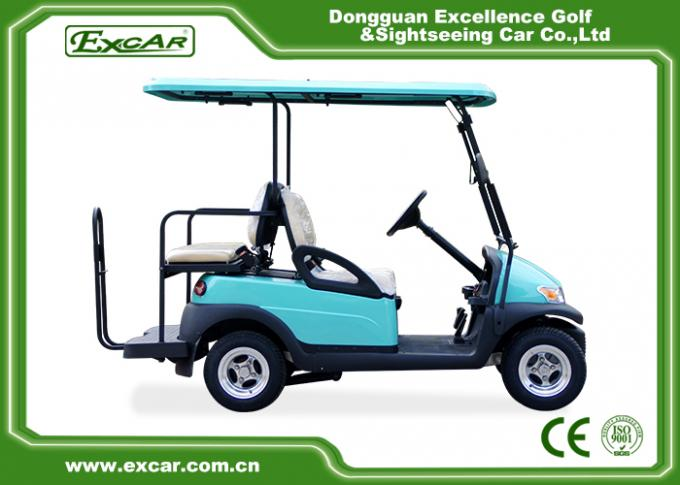 Front / Rear 4 Seats Electric Golf Carts , Battery Powered Electric Caddy Carts 1