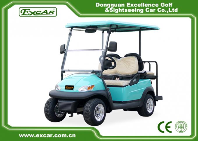 Front / Rear 4 Seats Electric Golf Carts , Battery Powered Electric Caddy Carts 2