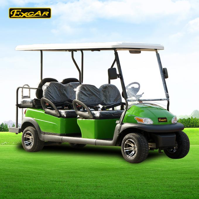 Excar 6 seat Electric golf buggy,48V 3.7KW motor trojan battery golf car
