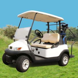 China Excar 48V Electric Golf Car Pearlized White Color Aluminum Chassis supplier