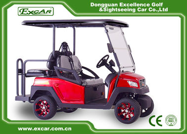 China 4 Seater Red Electric Golf Carts Self - Adjusting Rack Trojan Batteries Golf Cart supplier
