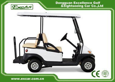 China CE Approved Used Club Car Golf Carts 4 Seater White Color Lead - Acid Batteries supplier