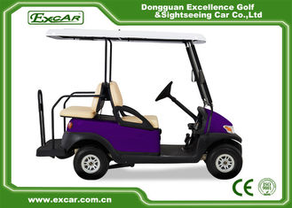 China EXCAR Four Wheel Battery Operated Golf Buggy Mini Type Purple Color supplier