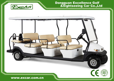 China 11 Passenger Electric Sightseeing Car 48V Trojan Battery Powered With Fixed Backward Seat supplier