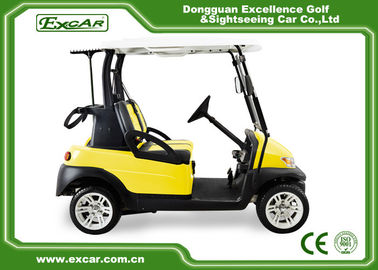 China Excar 2 Seats Yellow Electric Golf Car With Disc Brake/Trojan Battery supplier