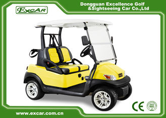 China EXCAR Double Color Seat Golf Cart Electric 48 Voltage With Aluminum Rim supplier