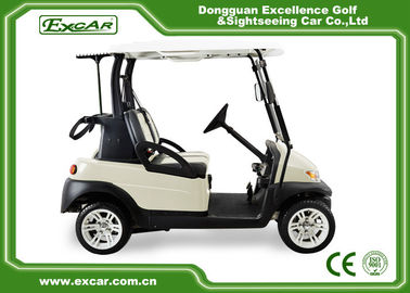 China EXCAR Beige Color Small Electric Golf Car With Italy Graziano Axle LED Headlight supplier