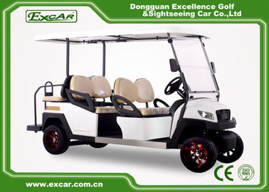 China EXCAR 48V White 6 seater electric golf cart mini club car golf cart electric golf buggy car supplier
