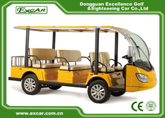 China 8 Passenger Electric Sightseeing Car Yellow 350A Curtis Controller supplier