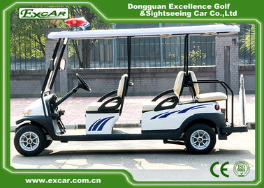 China White Color 6 Person Electric Patrol Car With Knock - Down Caution Light supplier