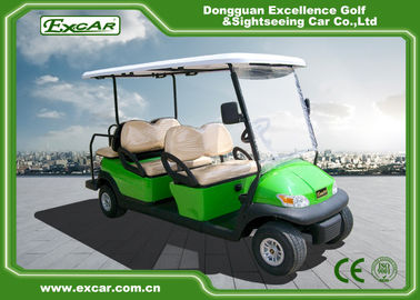 China Light Green Golf Buggy With Seat 6 Endurance 70 - 100km 12:1 Axle supplier