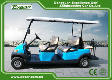 China Sky Blue Electric Golf Buggy 6 Person Aluminum 3.7KW ADC Separately Motor supplier