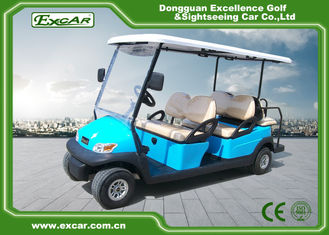 China Sky Blue Electric Golf Buggy 6 Seater supplier
