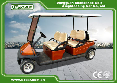 China EXCAR Club Car Electric Golf Buggy cart Brown Red For 4 And 2 Passenger supplier