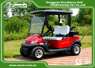 China Metallic Red Color Electric Golf Car supplier