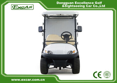 White 2 Person Golf Utility Vehicles With Closed Type Container