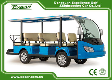 China Blue 11 Seater Electric Sightseeing Car With 72V 7.5KW KDS Motor supplier