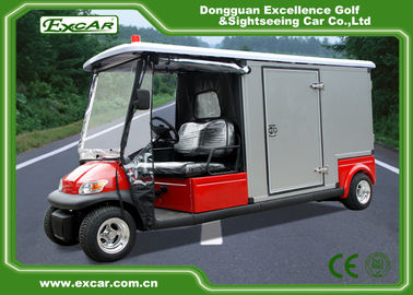 China Steel Chassis Waterproof Medical Golf Cart With Light And Horn supplier